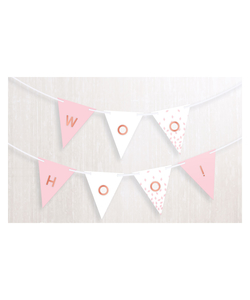 Rose Gold Blush Personalised Banners 4.57m