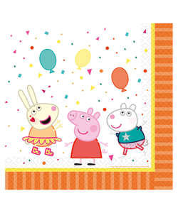 Peppa Pig Luncheon Napkins 33cm - 16 Pack