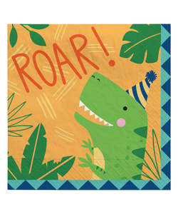 Dino-Mite Party Luncheon Napkins 33cm -16 Pack