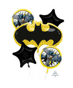Batman Helium Inflated Balloon Bouquets