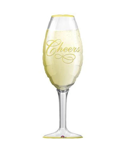 SuperShape Champagne Glass Foil Balloon - 14 x 38 Inch
