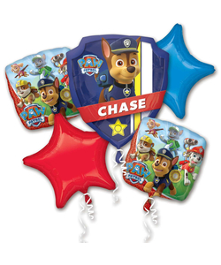 Paw Patrol Shield Helium Inflated Balloon Bouquets