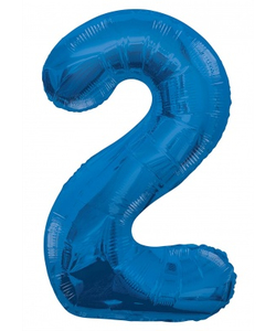 Blue Numbered Foil Balloon #2