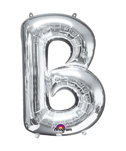 16'' Letter 'B' Silver Air Fill Balloon