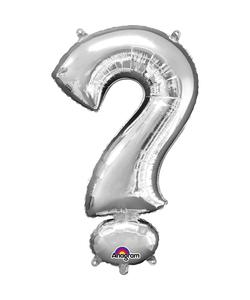 16'' Question Mark '?' Silver Air Fill Balloon