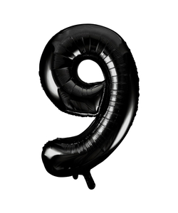 Black Numbered Foil Balloon #9