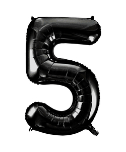 Black Numbered Foil Balloon #5