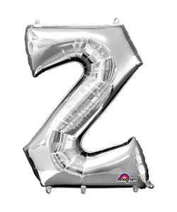 16'' Letter 'Z' Silver Air Fill Balloon