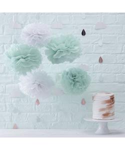 Tissue Pom Poms Decorations