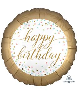 "Happy Birthday Foil Balloons - 18"""