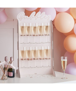 Rose Gold Foiled & Blush Prosecco Wall