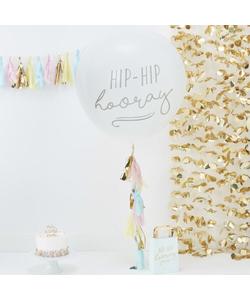 """White Giant Hip Hip Hooray Balloon & Tassel Kit 36"""""""