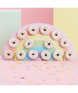 Rainbow Donut Wall Birthday Cake Alternative