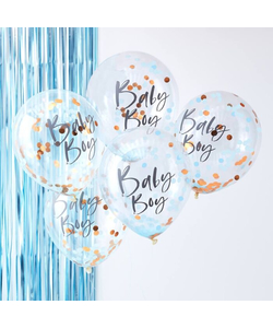 Blue Baby Boy Baby Shower Balloons - 5 Pack
