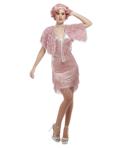 Deluxe 20s Vintage Pink Flapper Costume