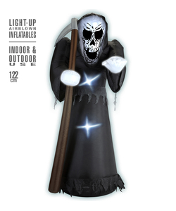 Light-Up Airblown Inflatable Grim Reaper
