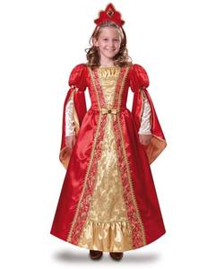 Red Medieval Queen Costume - Kids