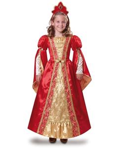 Red Medieval Queen Costume - Tween