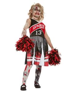 Red Zombie Cheerleader Costume - Kids