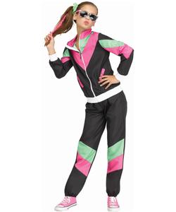 Rockin' 80's Tracksuit Costume - Kids