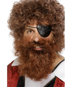 Brown pirate beard