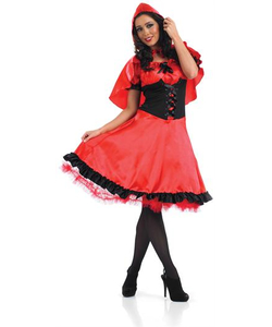 Red riding hood costume long dress