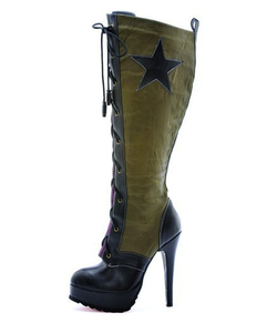 Military Knee High Shoes