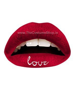 Red Love Temporary Lip Tattoo