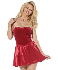 Bijou Mini Dress/Slip - Red
