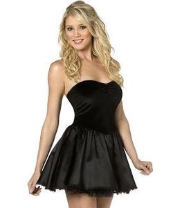 Bijou Mini Dress/slip - Black