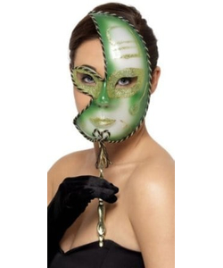 Mardi Gras Green Eye Mask