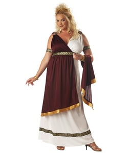 Deluxe Roman Empress Costume- Plus