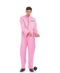 Mens Pink Prisoner Costume