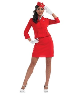 Plus Size Red Cabin Crew Costume