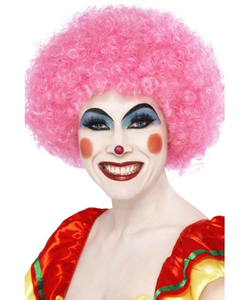 Crazy Clown Wig - Pink