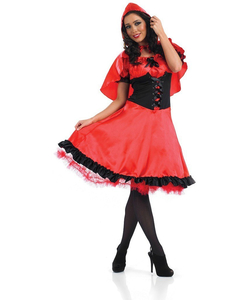Plus size Red riding hood costume long dress