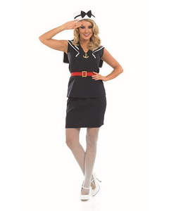 Plus Size Ladies Sailor Girl Costume