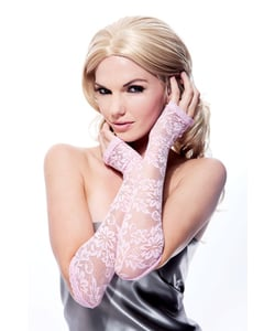 Pink Lace Fingerless Gloves