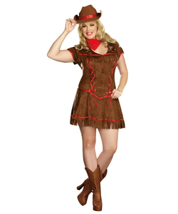 Giddy Up Ladies Plus Size Costume