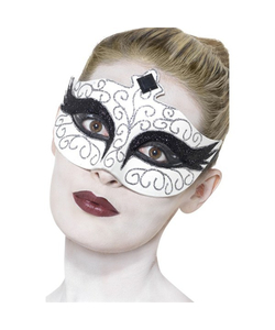 Gothic Swan Mask - White