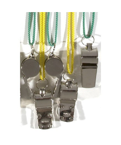 Metal Whistle With Lanyard