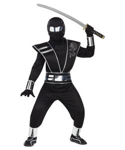 kids Silver Mirror Ninja Fancy Dress