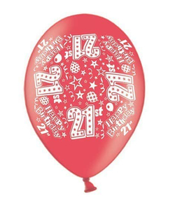 "Happy 21st Latex 10"" Balloon"