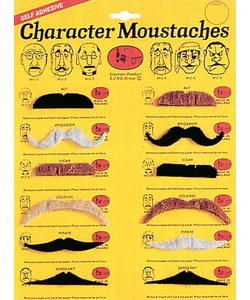 Character Moustaches - Assorted Colours