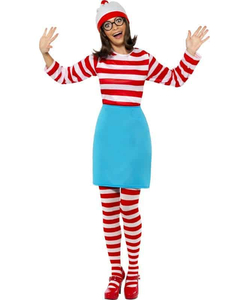 Plus Size Ladies Where's Wally Costume