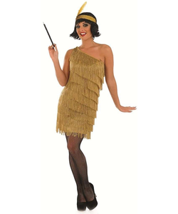 plus size Gold Flapper