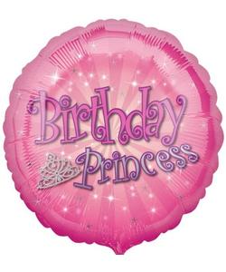 "Birthday Princess Balloon 18"""