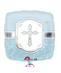 Blue Communion Blessings Balloon - Blue