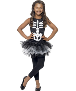 Kids Skeleton Tutu Dress