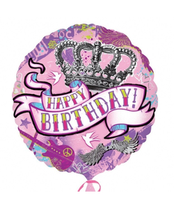 """Happy Birthday Tattoo Balloon - 18"""""""